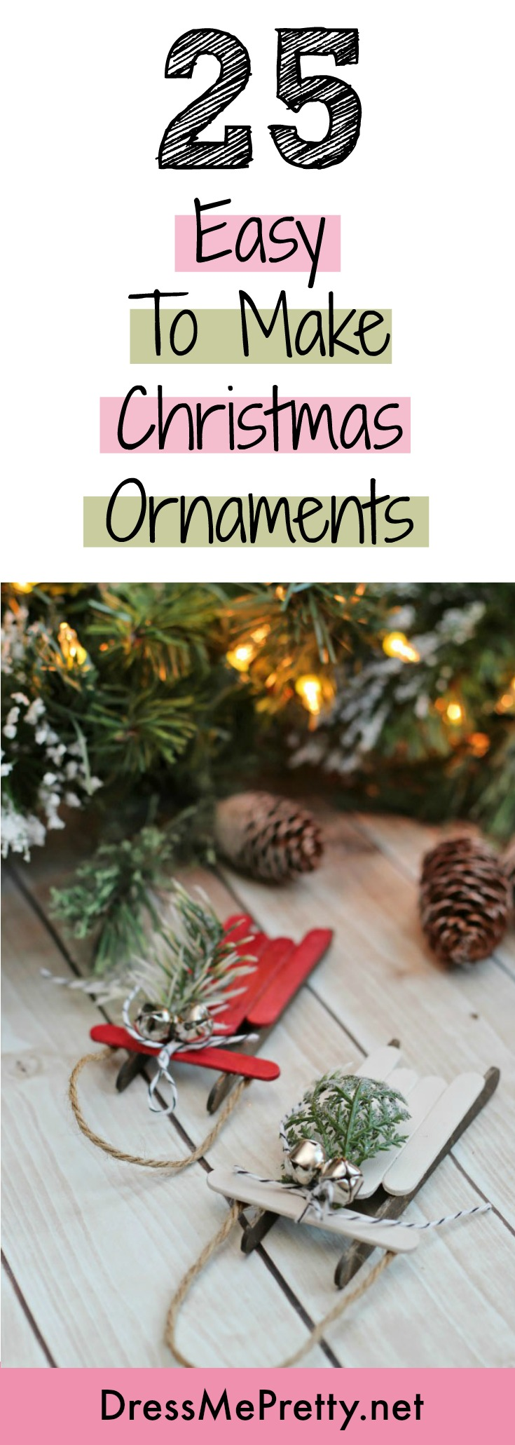 Music Themed Christmas Ornaments.25 Easy To Make Christmas Ornaments Dress Me Pretty