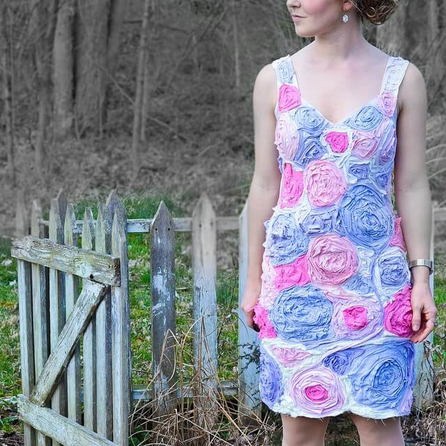 DIY T-Shirt Flower Dress