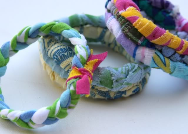 T-Shirt Repurpose Bangles